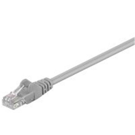Patch cable  CAT5e UTP, grey, 0.25m